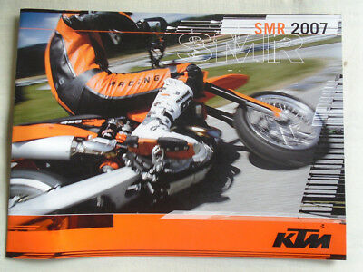 KTM SMR motorcycle brochure 2007 English text