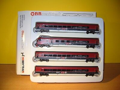 "Hobbytrain  H25216  ÖBB Railjet 4-tlg   ""Sprit of Budapest""  in  N"