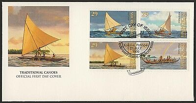Micronesia 176a on FDC - Traditional Canoes
