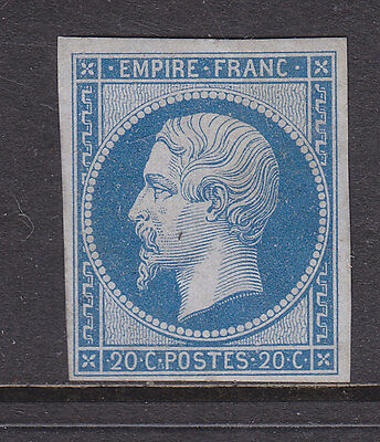 France 1853 Napoleon, 20 Cent Dull Blue Fine Mint Type 1 . See Details.