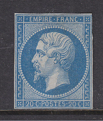 France 1853 Napoleon, 20 Cent Dull Blue Fine Mint Type 2 Genuine. See Details.