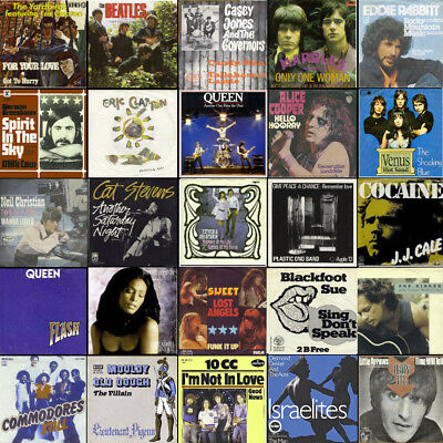 !! 180 BEAT/ROCK/POP-SINGLES !! mit Original-Cover