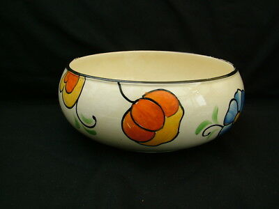 Beswick Pottery Handcraft fruit bowl 7012 art deco hand painted flowers
