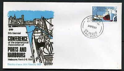 Australia 1969 Ports & Harbours - Unaddressed FDC (gold lettering)