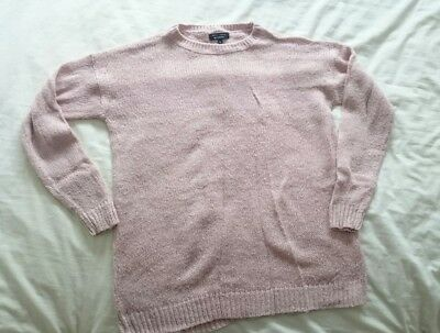 New Look Maternity Chunky Knit Jumper Size S, Pink