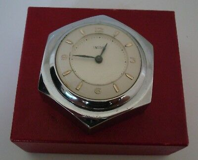 Vintage Rare Chrome Cased 1950's Smiths English Watch Paperweight In Smiths Box