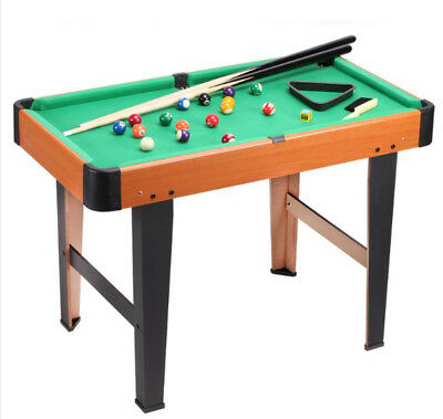 A03 Green Wooden Kids Children Billiard Pool Toy Home Simulation Practice Table