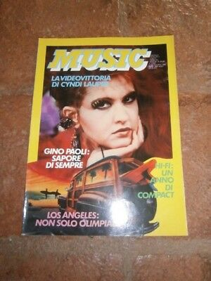 """CYNDI LAUPER complete magazine """" MUSIC """" from ITALY .. HARD TO FIND!!"""