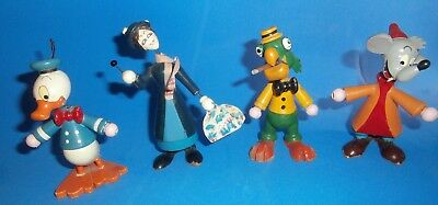 X RARE Wooden Disney figurines/Donald/ Carioca/MAry Poppins/Jaq cinderella mouse