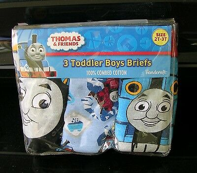 """THOMAS & FRIENDS"" Boys  SIZE 2T /3T 3 PRS. PKG. BRIEFS/UNDERWEAR  NWT."