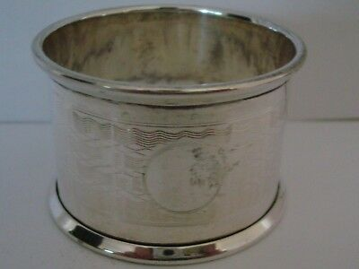Vintage Good Solid Silver Napkin Ring Un-Engraved Birmingham 1924 12.7 Grams
