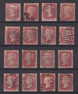 Lot:23497  GB QV   SG44 1d red plates selection