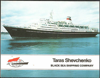 Brochure Foto Ricordo - Ship Nave Taras Shevchenko - Black Sea Shipping Company