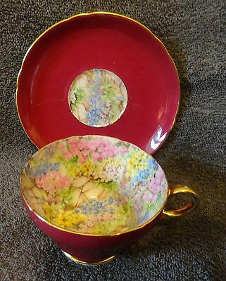 Shelley, Cup and Saucer, Rock Garden pattern cchintz.