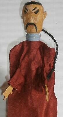c1900 Folk Art Primitive exceptional wood Wooden hand carved  PUPPET charater n7