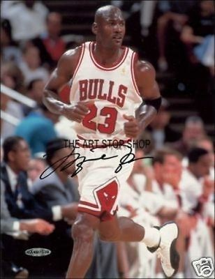 Michael Jordan signed photo print