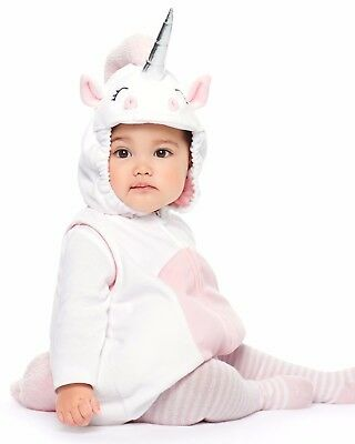 Carters Baby Girl 2T Halloween Deluxe Unicorn Costume Pink White Toddler 24M NEW