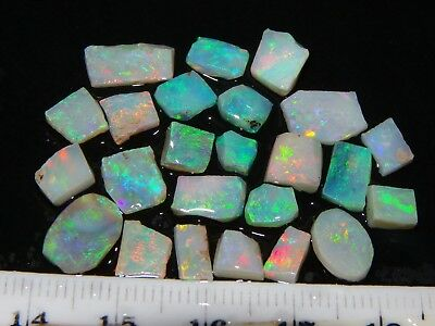 Quality, Small Gem Rough/Rubbed Opals 17cts Lightning Ridge Australia. Crystal