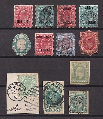 Lot:23476  GB EDVII  Officials and postal stationery selection