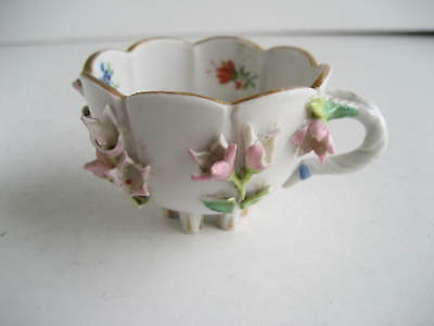 Helena Wolfsohn Dresden Antique Miniature Cup Protruding Flowers