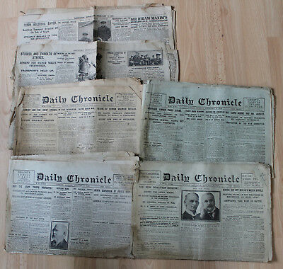 Collection of 6 London Daily Chronicle & Reynolds Newspapers 1918/1919 WW1