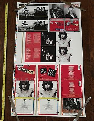 U2 Joshua Tree , The Doors, Eagles PRINTER PROOF UNCUT SHEET poster