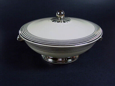 """Taylor, Smith, and Taylor - Art Deco -LuRay Style - HTF 8 1/4"""" Covered Casserole"""