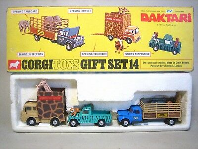 Corgi Toys Gift Set 14, TV Giant Daktari Set in OVP, ca. 1960er Jahre