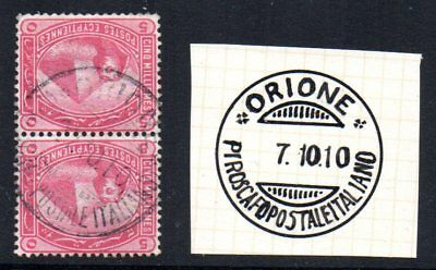 Egypt: 1910 Sphynx 5m x 2 on piece cancelled Piroscafo Postale Italiano