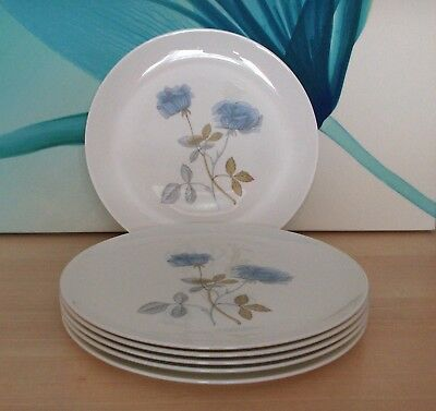 Wedgwood Ice Rose Dinner Plates X 6