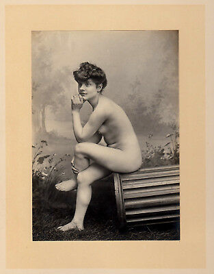 #3 CLASSICAL NUDE WOMAN STUDY Hairstyle AKT STUDIE * Vintage 1900s French Photo