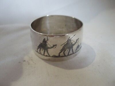 Middle Eastern Napkin Ring Sterling Silver Circa 1910