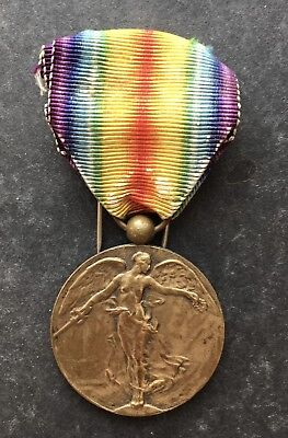 Belgium  Original WWI Inter Allied Victory medal 1914-1918 Belgian award