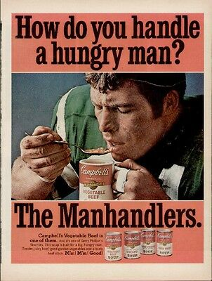 Gerry Philbin Great Football Player eating Campbell's Soup (Nov 1968 Life Mag)