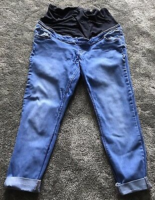 New Look Ladies Maternity Jenna Over Bump Skinny Cropped Jeans Size 14