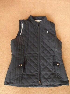 joules size 14 navy padded gilet