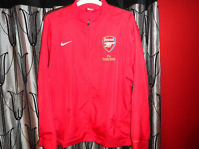 official arsenal football club zip up jacket mens XL nike