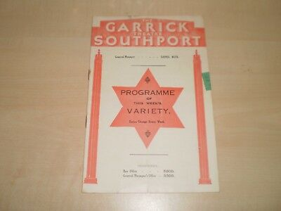 May 1935 Southport Garrick Theatre Promenade Programme With Variety Bil