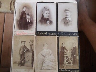 Six Victorian Profession Photographs From Album Dated 1897 Various Studios L@@k