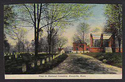 Knoxville-Tennessee-National Cemetery-Antique Postcard-Trimmed