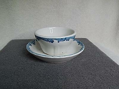 UPRR Union Pacific Railroad Overland Shield China Harriman Soup Cup & Drip Plate
