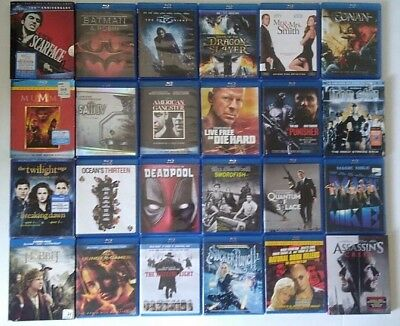 Lot of 25 Blu Ray Movies Classics DVD Combo Digital Copies Action Adventure Cult