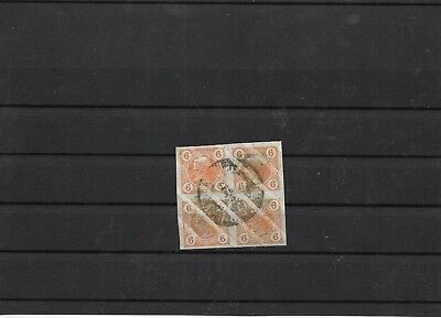 Australia newspaper superb bloc of 4 varnish bars SG #N152 cat £132+ (#8548a)