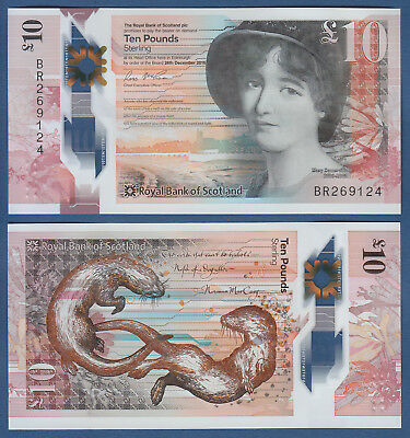 SCHOTTLAND / The Royal Bank of SCOTLAND 10 Pounds 2016 (2017) Polymer UNC P. NEW