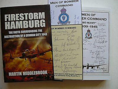 Firestorm Hamburg Signed 47 Bomber Command Veterans