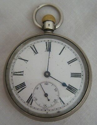 An Antique C1900s Silver Pocket Watch..Sold As Needs Some T.L.C. Been Over-wound