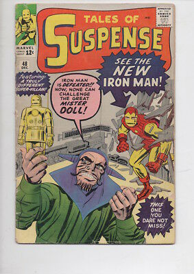 TALES of SUSPENSE #48 comic/from 1963/new IRON MAN story/Way below Overstreet!