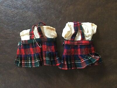 Lot of  2 Vintage Clothes for Ginny Plaid outfits