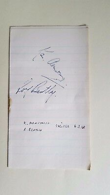 Chelsea Signed Notebook Page 1948 - Roy Bentley / Ken Armstrong