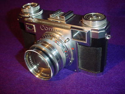 Vintage Zeiss Contax Ikon Camera with Sonnar 1:1.5 f=50mm Lens with Leather Case